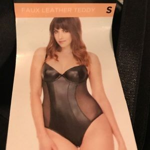 Other - Vegan Leather Teddy / Bodysuit Band New w/ Tags